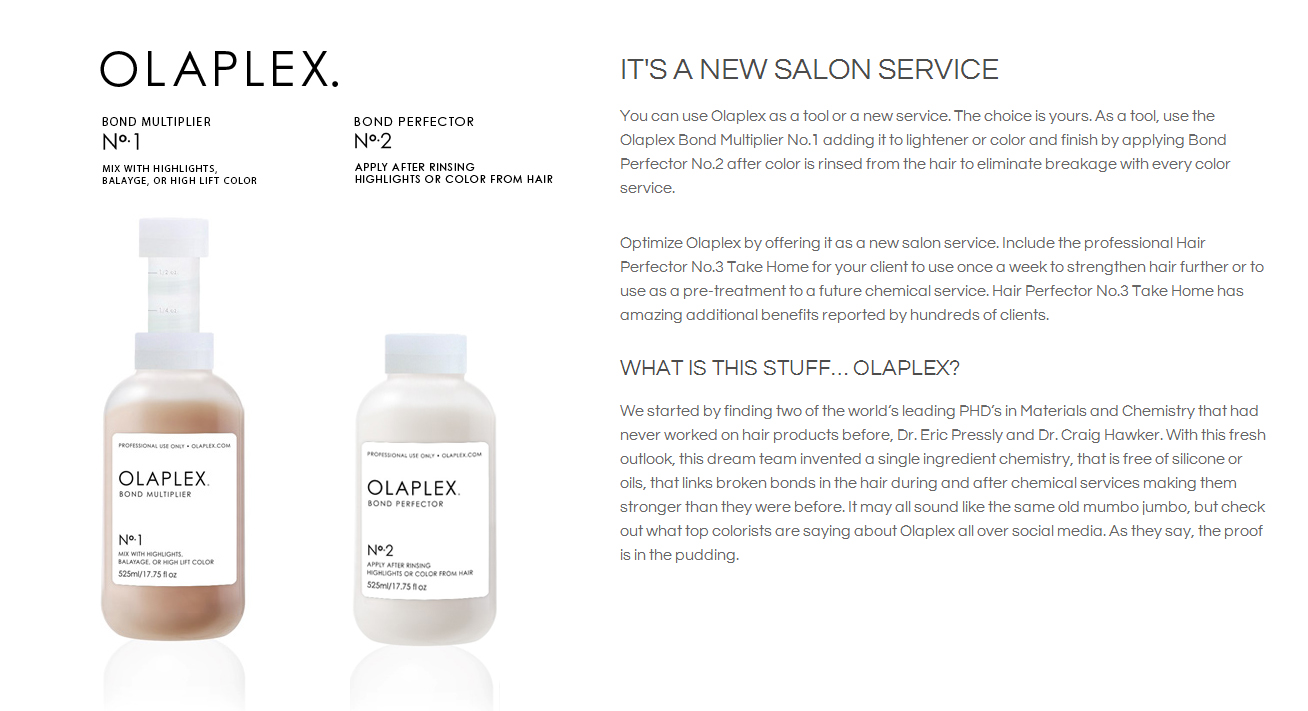 Olaplex architeqt salon and gallery for Olaplex salon